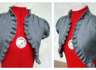 Bolero with Ruffled Edging Free Knitting Pattern
