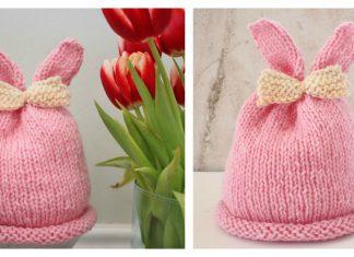 Bunny Ear Baby Hat Free Knitting Pattern