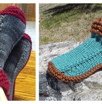 Crocodilly Mocs Slipper Free Knitting Pattern