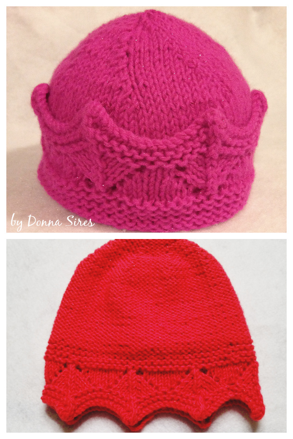 Crown Hat Free Knitting Pattern