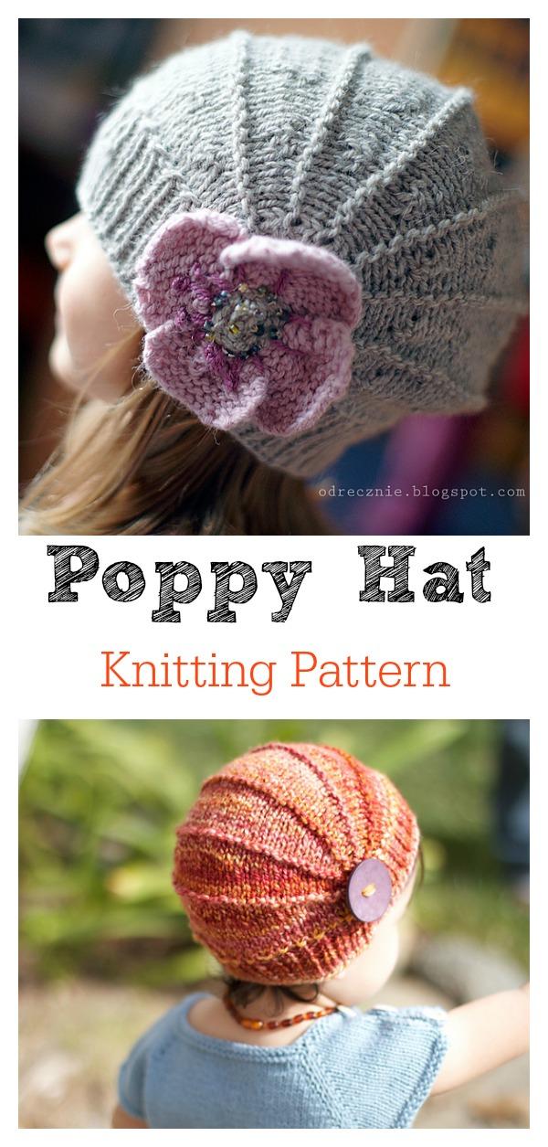 Cute Poppy Hat Knitting Pattern