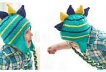 Dinosaur Hat Free Knitting Pattern