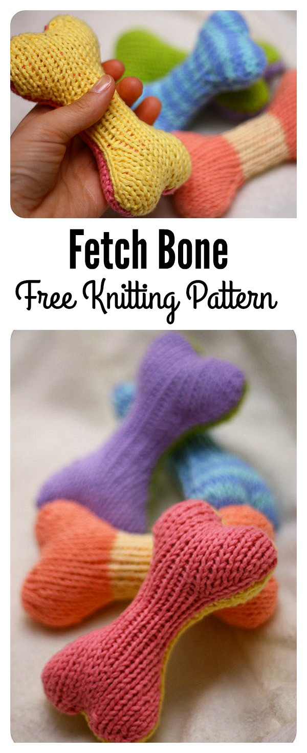 Fetch Bone Free Knitting Pattern