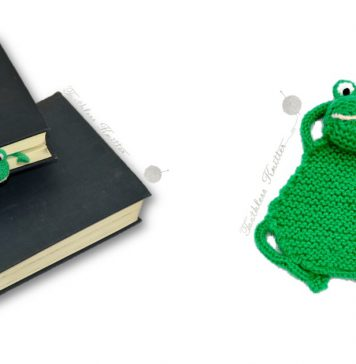 Flat Frog Bookmark Free Knitting Pattern