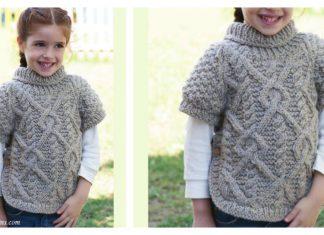 Girl's Raglan Pullover Free Knitting Pattern