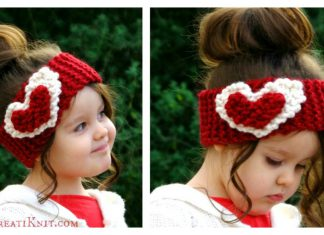 Heart Head Warmer Free Knitting Pattern
