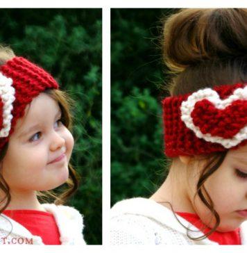 Heart Head Warmer Free Knitting Pattern
