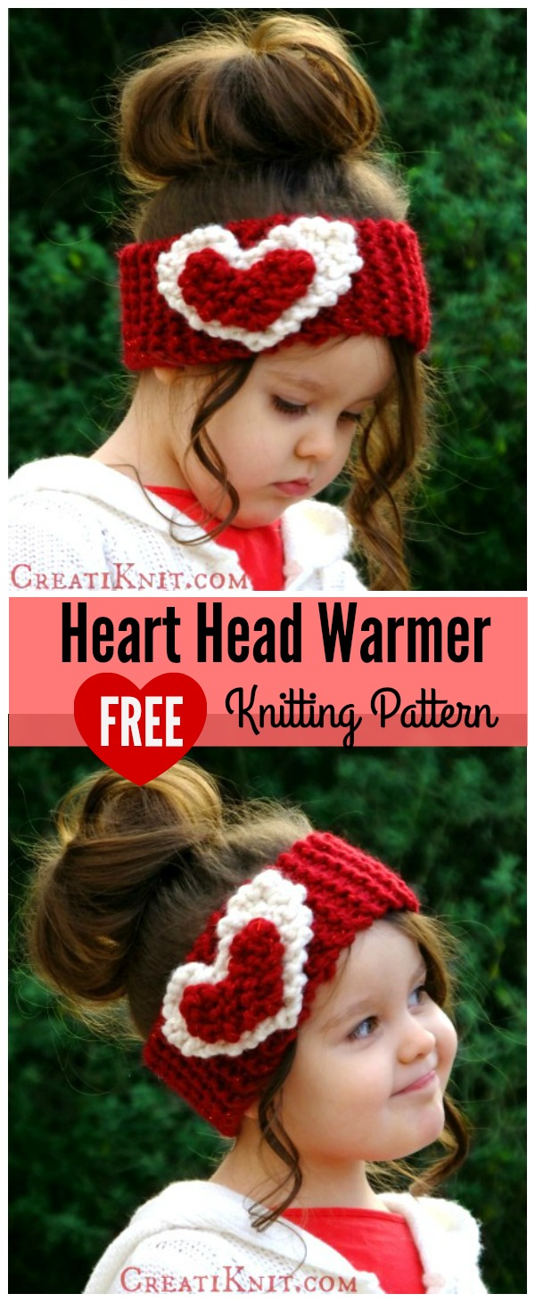 Heart head warmer free knitting patterng dt1010fo