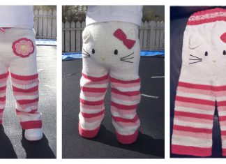 Hello Kitty Pants Free Knitting Pattern