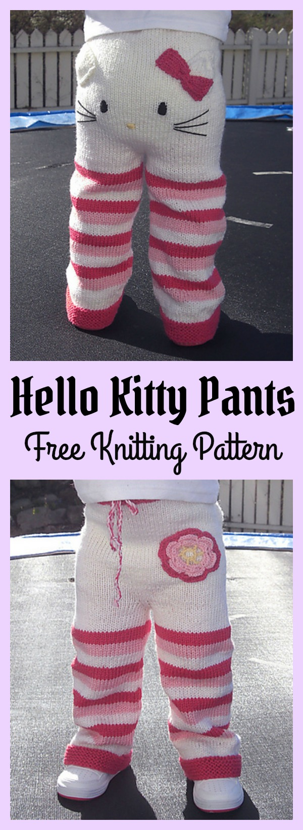 Hello Kitty Pants Free Knitting Pattern m