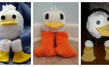 Just Ducky Hat & Socks Free Knitting Pattern