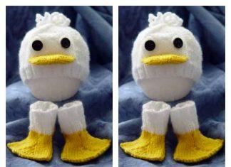 Just Ducky Hat & Socks Free Knitting Pattern
