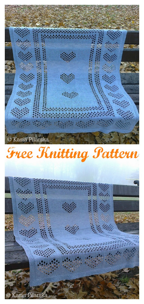 Kindhearted Lace Baby Blanket Free Knitting Pattern