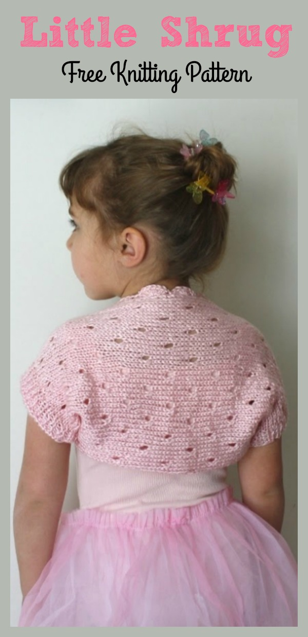 Little Ballerina Lace Shrug Free Knitting Pattern