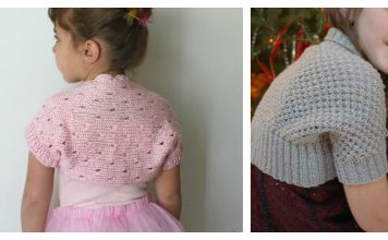 Little Girl Lace Shrug Free Knitting Pattern