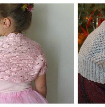 Little Girl Lace Shrug Free Knitting Pattern