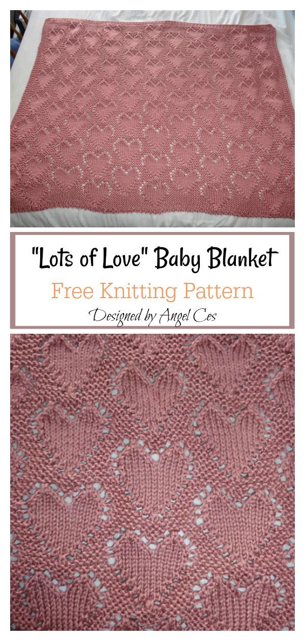 Lots of Love Baby Blanket Free Knitting Pattern