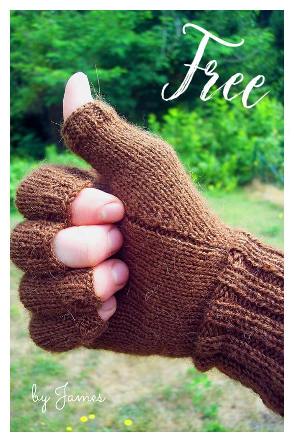 Men's Fingerless Gloves Free Knitting Pattern