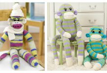 Mr. & Mrs. Sock Monkey Free Knitting Pattern