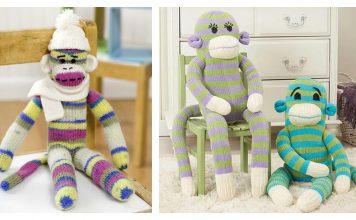 Mr. & Mrs. Sock Monkey Free Knitting Pattern