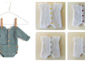 Newborn Romper Free Knitting Pattern and Tutorial
