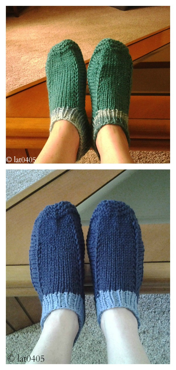 One-Two-Three Slippers Free Knitting Pattern