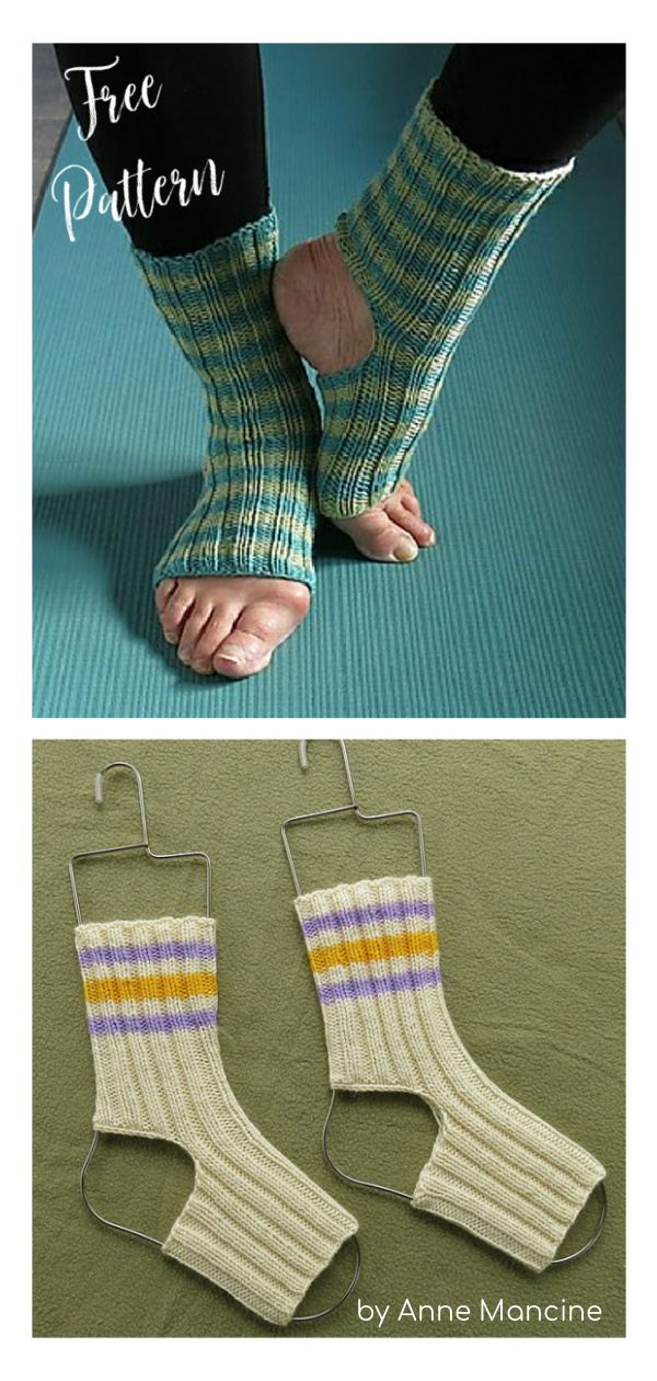 Rolling Brook Yoga Socks Free Knitting Pattern