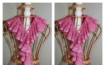 Romantic Ruffle Scarf Free Knitting Pattern