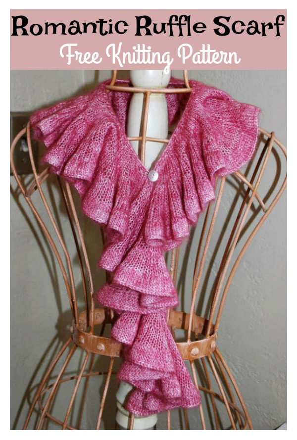 Romantic Ruffle Scarf Free Knitting Pattern