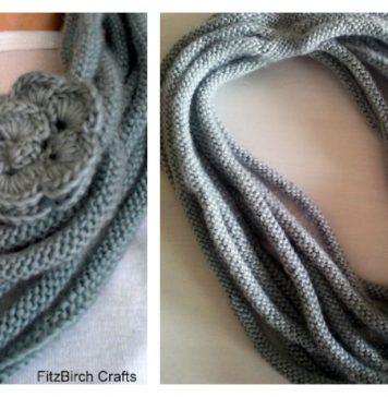 Rose Medusa Cowl Free Knitting Pattern