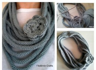 Rose Medusa Cowl Free Knitting Pattern