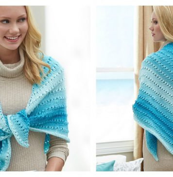 Simple Lace Triangle Shawl Free Crochet Pattern