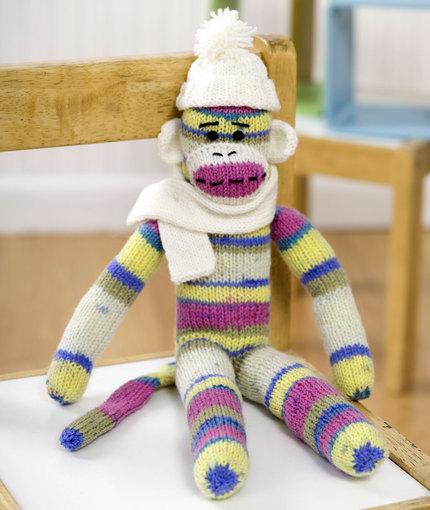 Sock Monkey Free Knitting Pattern