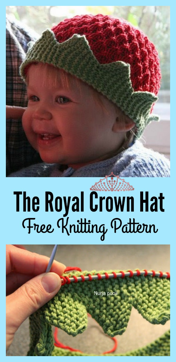 The Royal Crown Hat Free Knitting Pattern