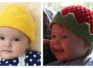 The Royal Crown Hat Free Knitting Pattern