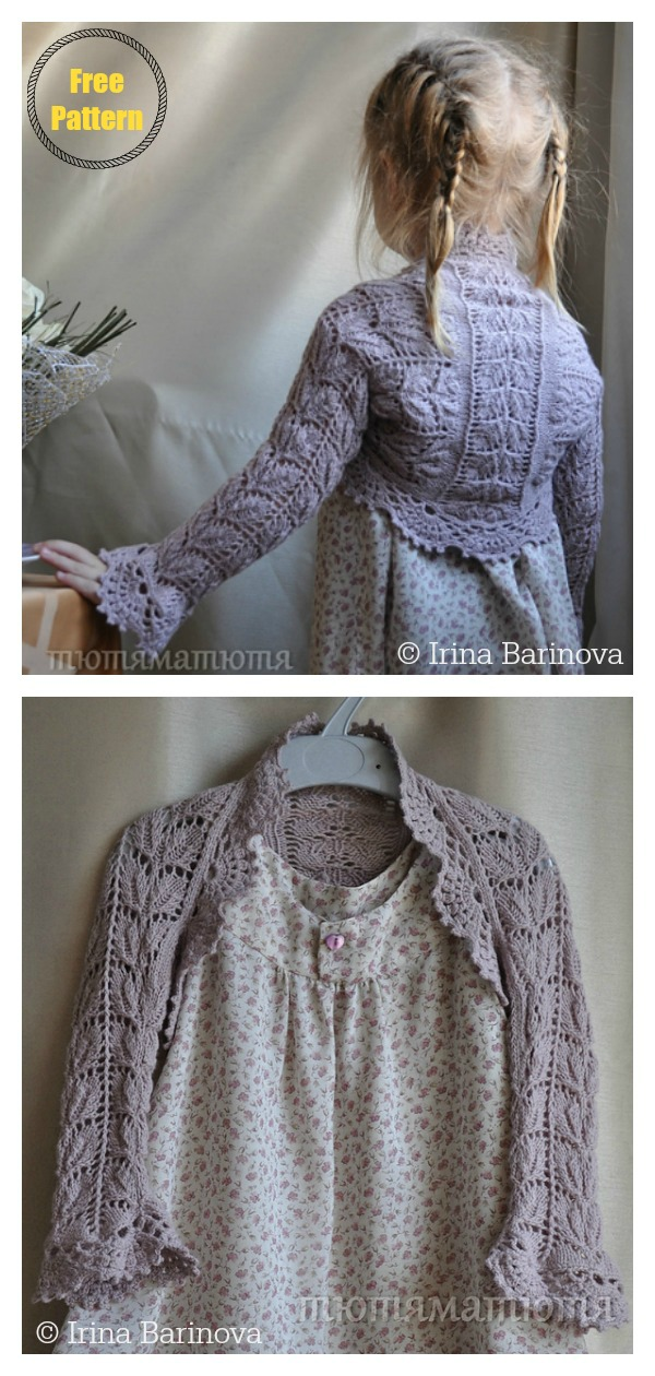 Time of Flowers Lace Shrug Free Knitting Pattern