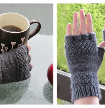 Tipless Gloves Free Knitting Pattern