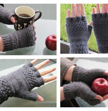 Tipless Gloves Free Knitting Pattern