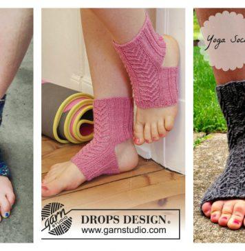Yoga Socks Free Knitting Pattern