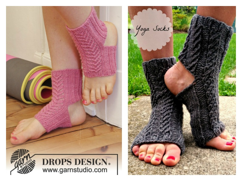 Yoga Socks Free Knitting Patterns