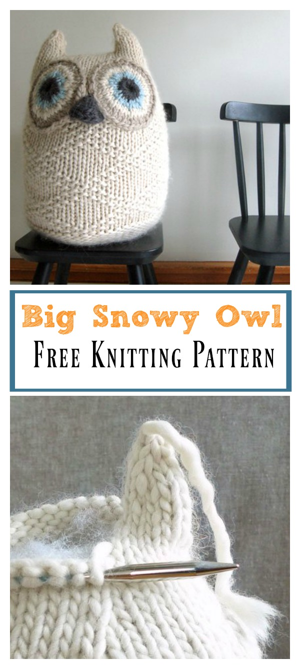 Big Snowy Owl Free Knitting Pattern