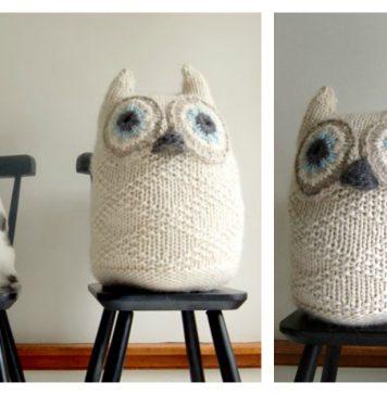 Big Snowy Owl Free Knitting Pattern