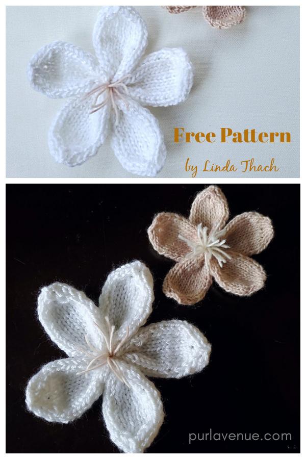 Cherry Blossoms Free Knitting Pattern