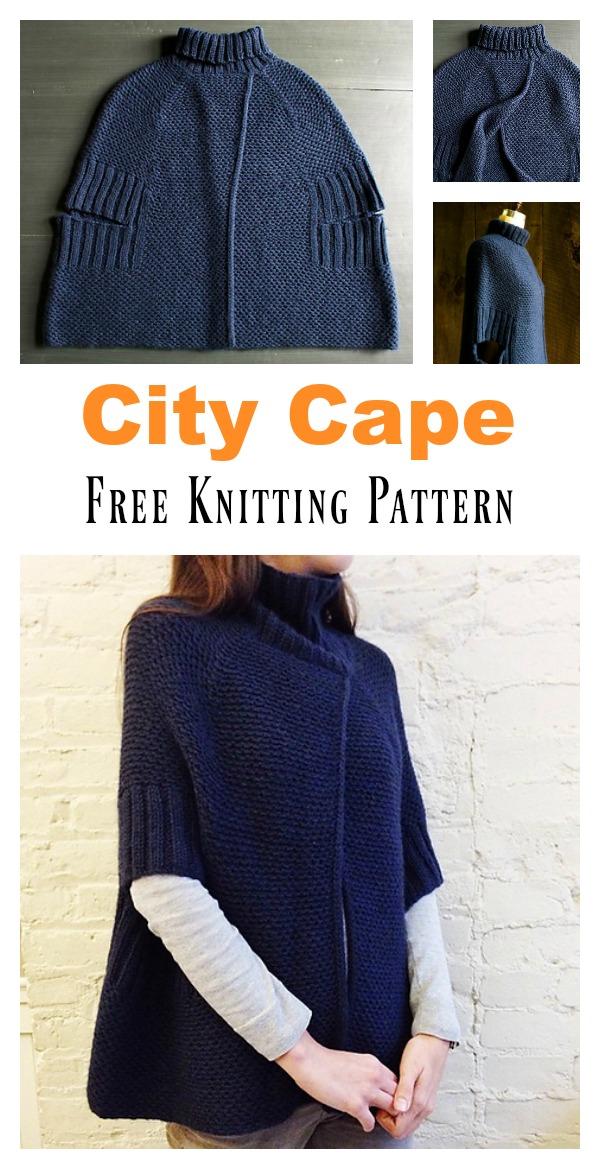 City Cape Free Knitting Pattern