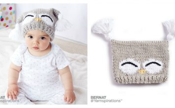 Cute Owl Baby Hat Free Knitting Pattern