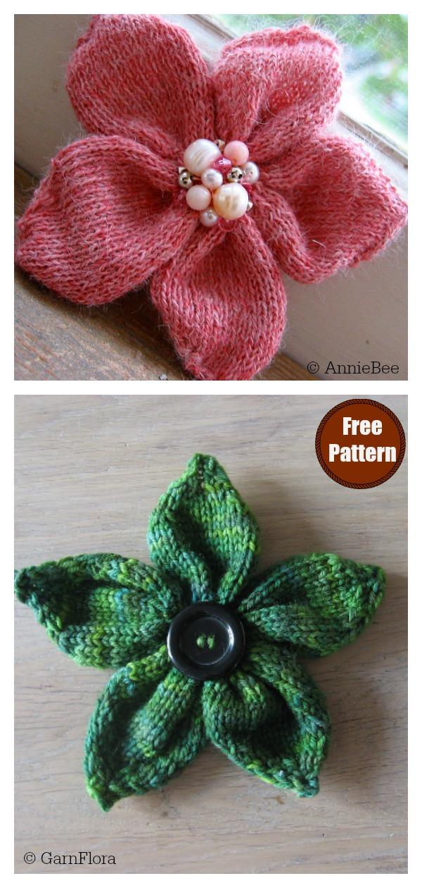 Flower Free Knitting Pattern