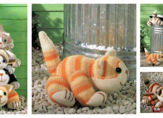 Four Cats Free Knitting Pattern