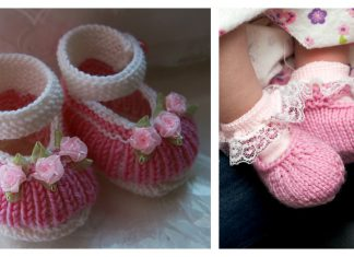 Mary Jane Baby Booties Free Knitting Pattern