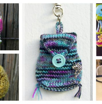 Mini Bag Keychain Free Knitting Pattern
