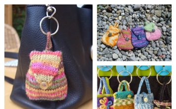 Mini Bag Keychain Free Knitting Pattern